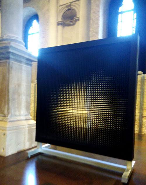 Alberto Biasi Torsioni Alcantara Biennale Venezia
