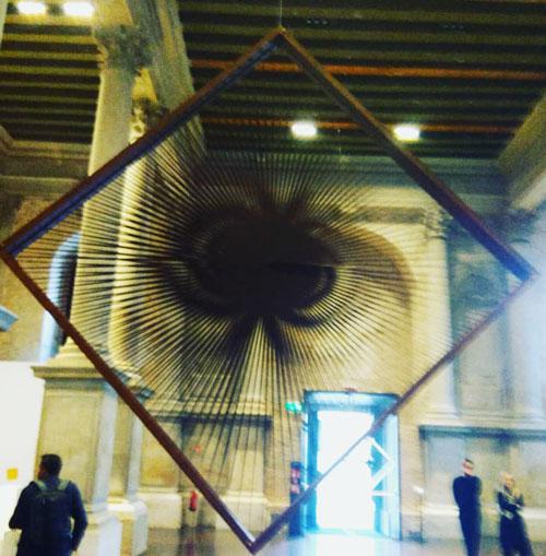 Alberto Biasi Torsioni Alcantara Venezia Biennale